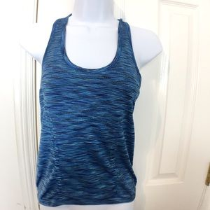 Athleta Blue Racerback Workout Tank Top Size S